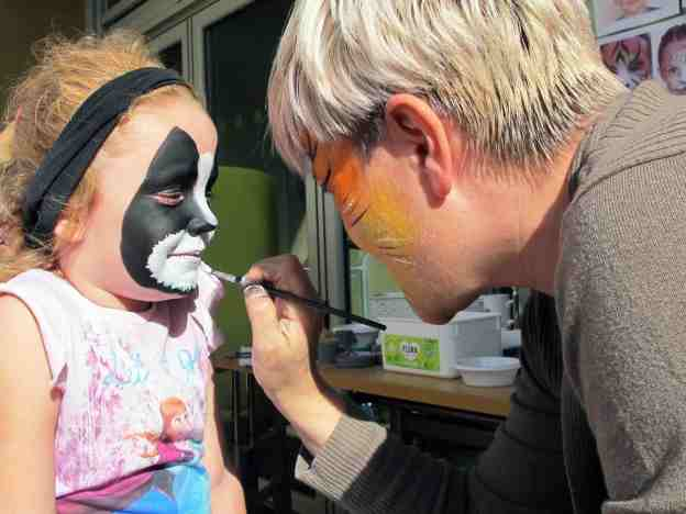 Children of all ages enjoyed the artistic face-painting.