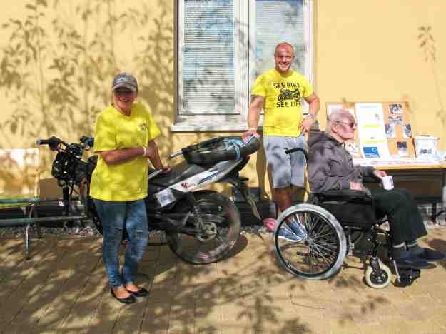 Members of the 'See Bike See Life' challenge team