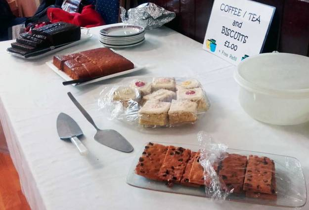 Tasty cakes baked by the members of the League of Friends.