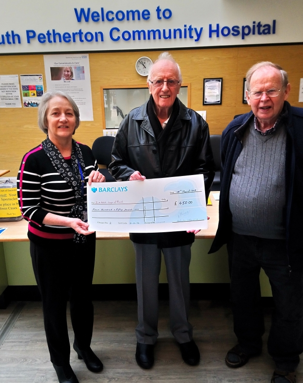 Cheque Presentation Portcullis Lodge.
