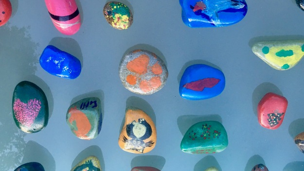 photos of painted pebbles